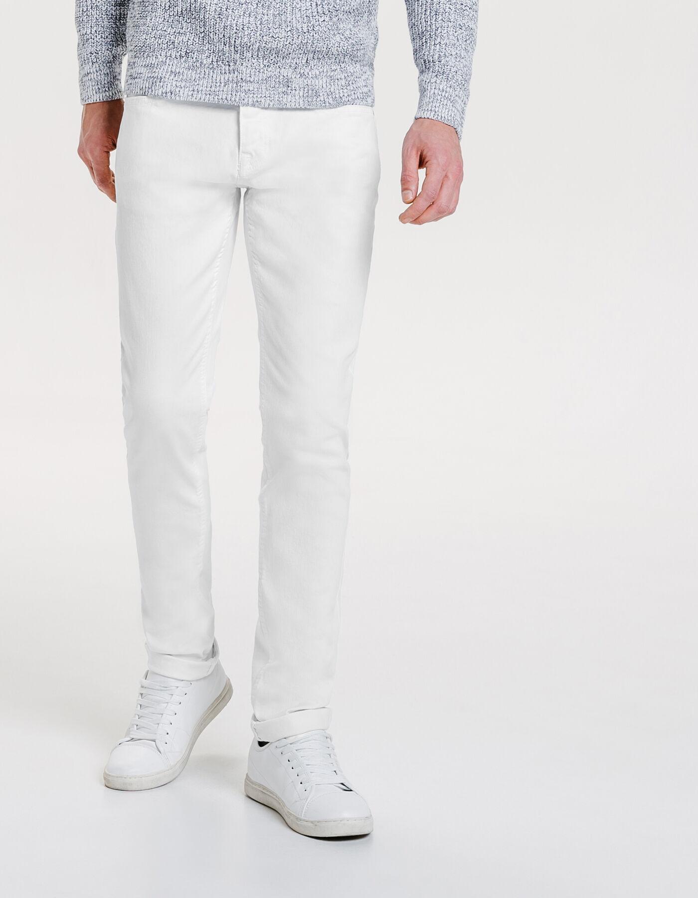 pantalon 5 poches slim blanc homme jules. Black Bedroom Furniture Sets. Home Design Ideas