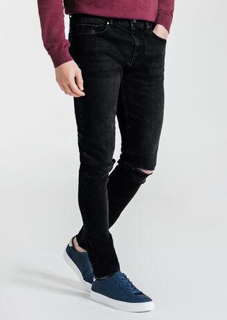 Jean skinny destroy  découpe genoux