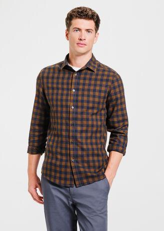 Chemise ajustée à carreaux