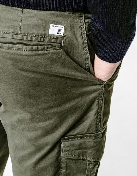 pantalon slim poches army kaki homme jules. Black Bedroom Furniture Sets. Home Design Ideas
