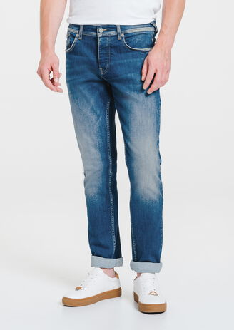 Jean straight bleu lumineux