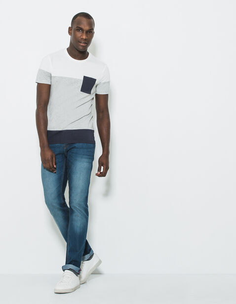 T-shirt col rond color block