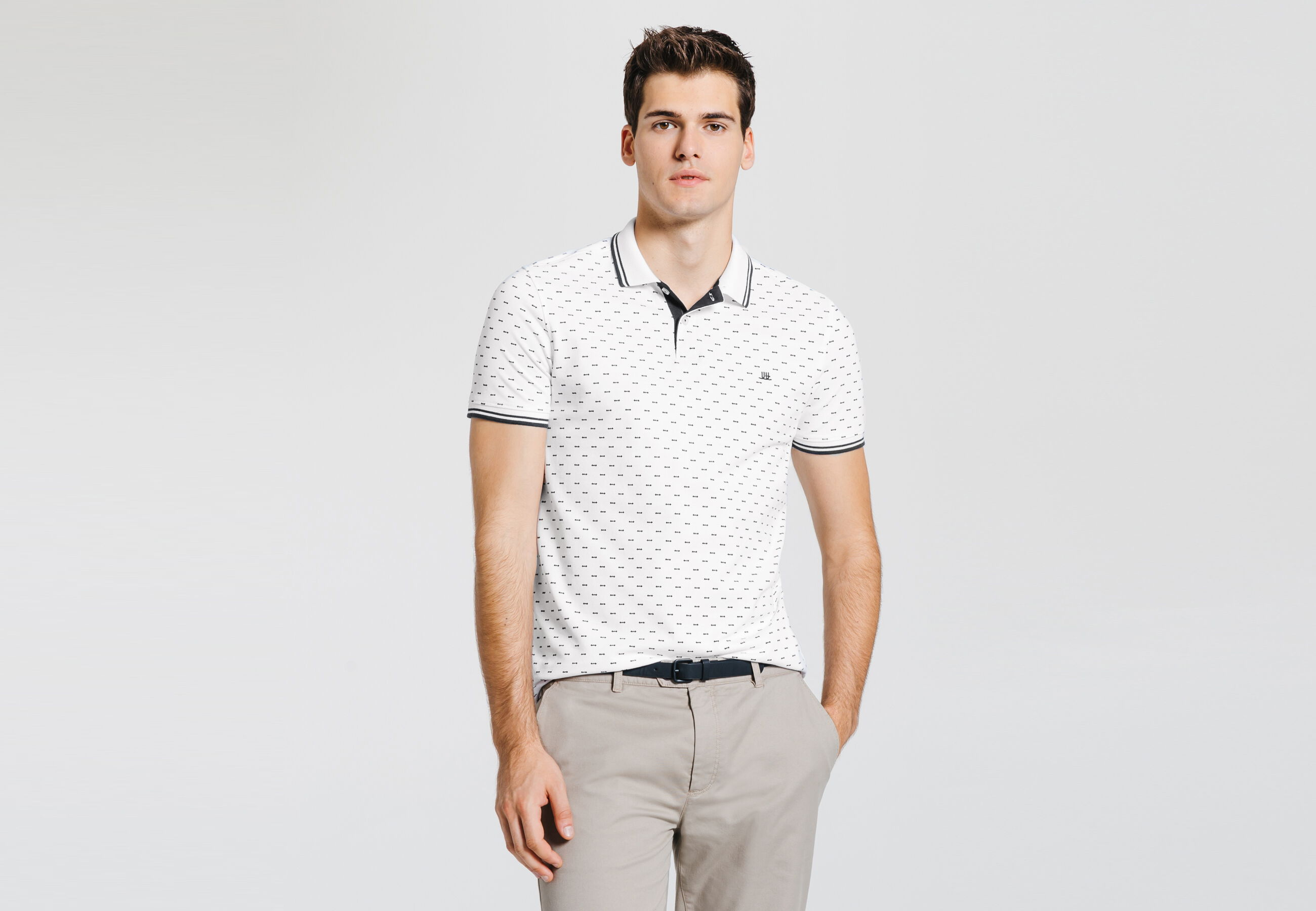 Polo homme fantaisie Blanc Homme - Jules fd8266ee16eb
