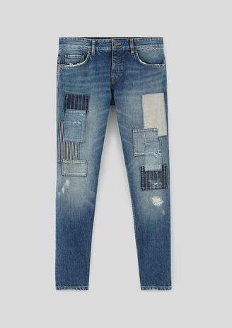Jean toile japonaise selvedge patch