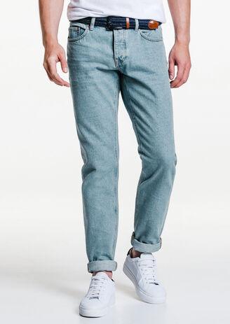 Jeans straight délavé vintage