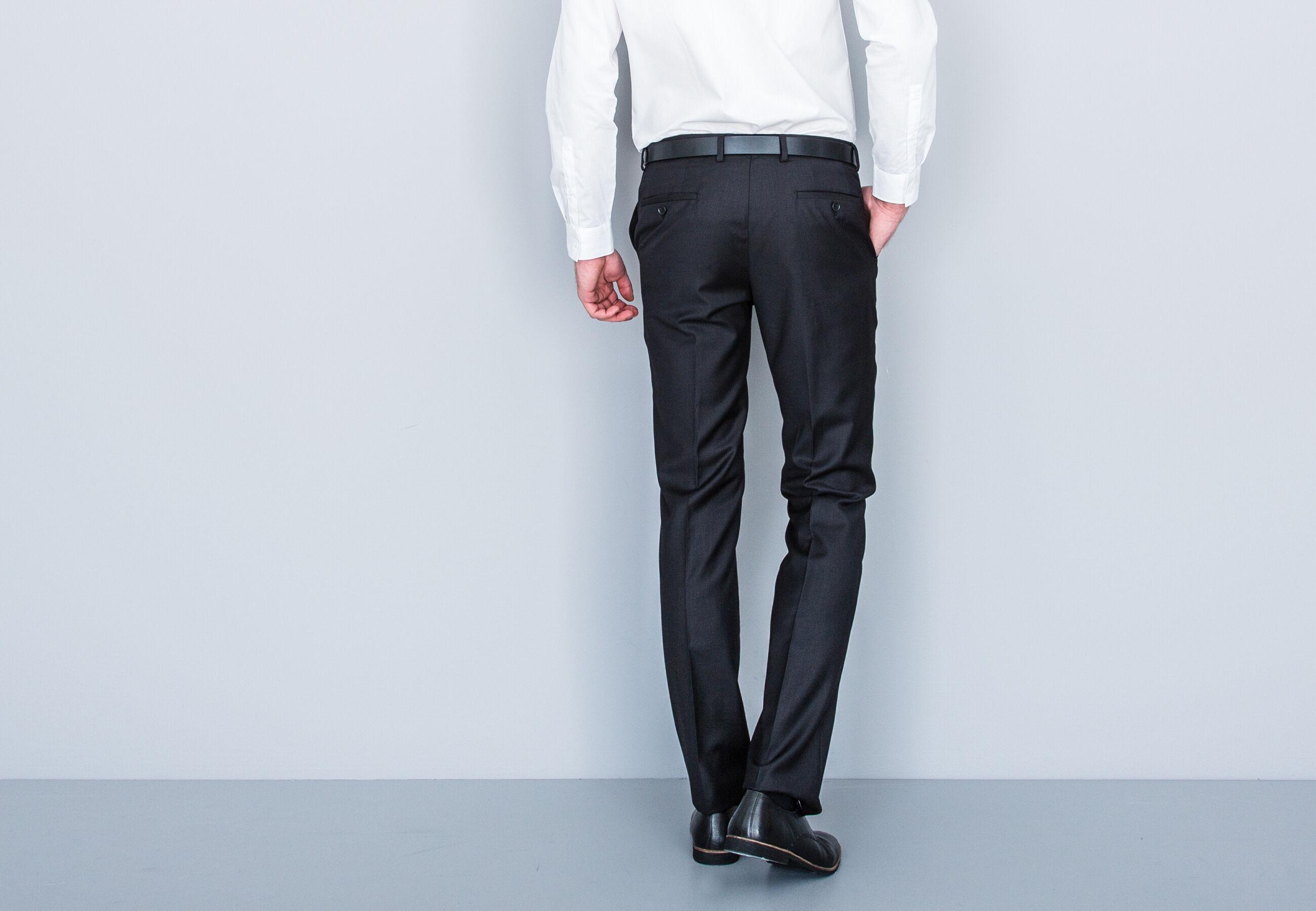 pantalon de costume slim noir homme jules. Black Bedroom Furniture Sets. Home Design Ideas