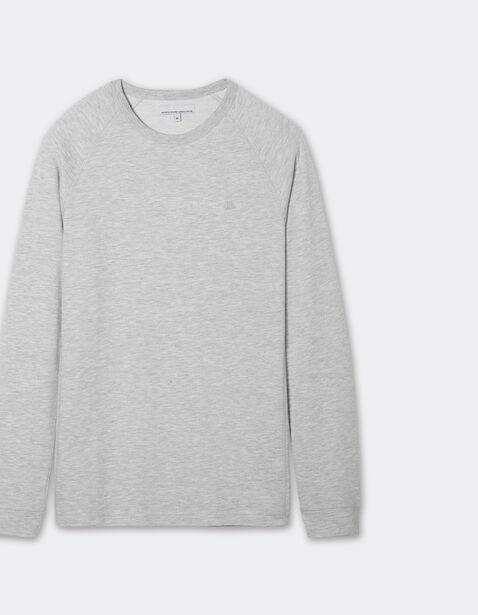 Tee-shirt col rond brodé poitrine