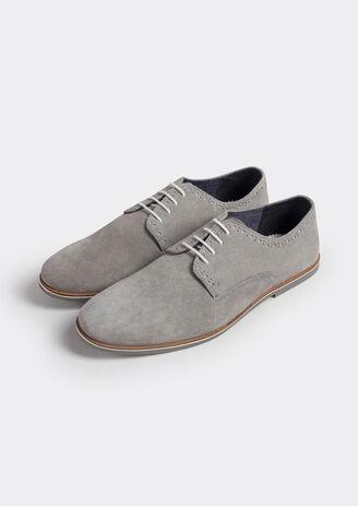 Chaussure urbaine derby cuir suède