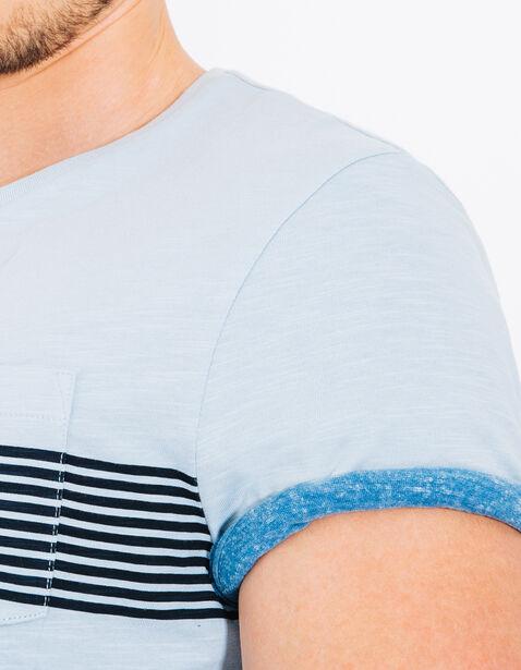 Tee shirt bande rayée poitrine