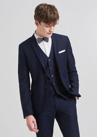 Veste de costume premier prix slim bleu moyen