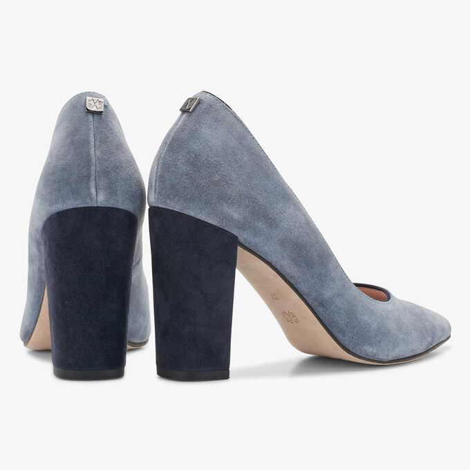 Floris van Bommel blaue Wildleder Pumps