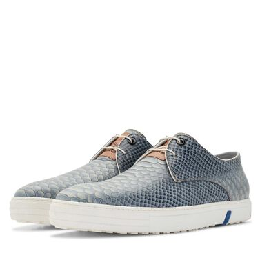 Floris van Bommel snakeprint heren city sneaker