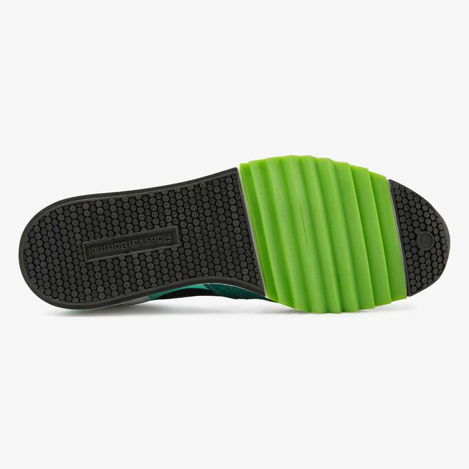 Floris van Bommel groene snakeprint heren sneaker