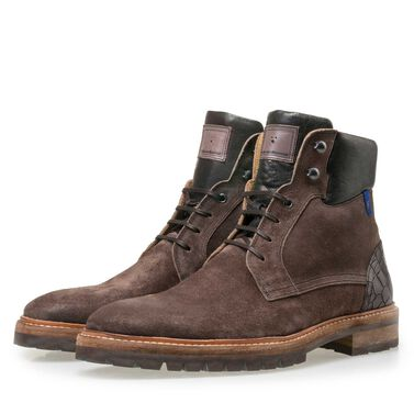 Floris van Bommel men's suede leather lace boot