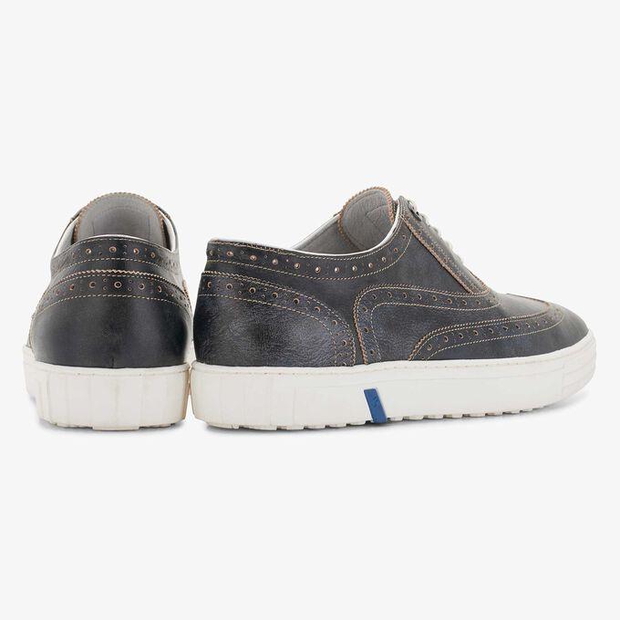 Floris van Bommel donkerblauwe leren heren brogue sneaker