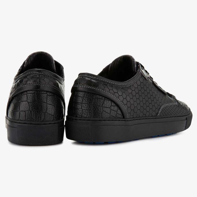 Floris van Bommel zwarte leren heren sneaker
