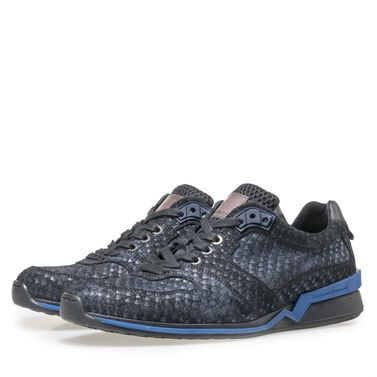 Floris van Bommel suède snakeprint sneaker