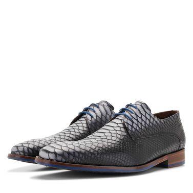 Floris van Bommel men's leather lace shoe with snake print