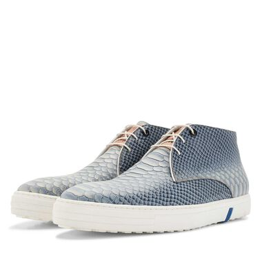Floris van Bommel mid-high men's city sneaker with snake print