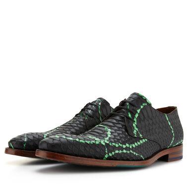 Floris van Bommel men's lace shoe with snake print