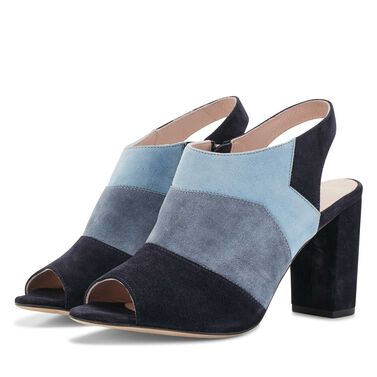 Floris van Bommel high-necked suede leather patchwork pumps