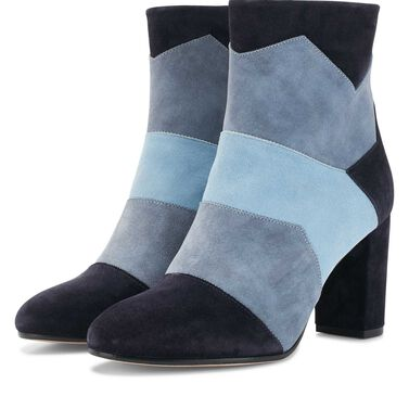 Floris van Bommel suede leather patchwork ankle boots