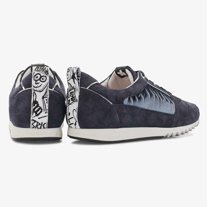 Floris van Bommel donkerblauwe suède dames sneaker