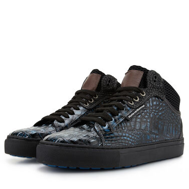 Floris van Bommel men's sneaker with crocodile print