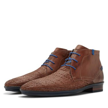 Floris van Bommel braided leather lace boot