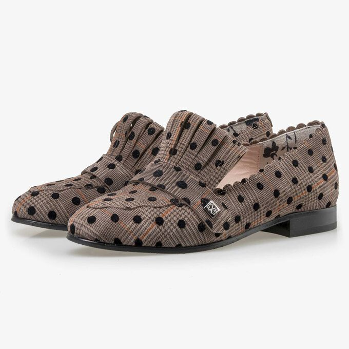 Floris van Bommel beige suède dames loafer