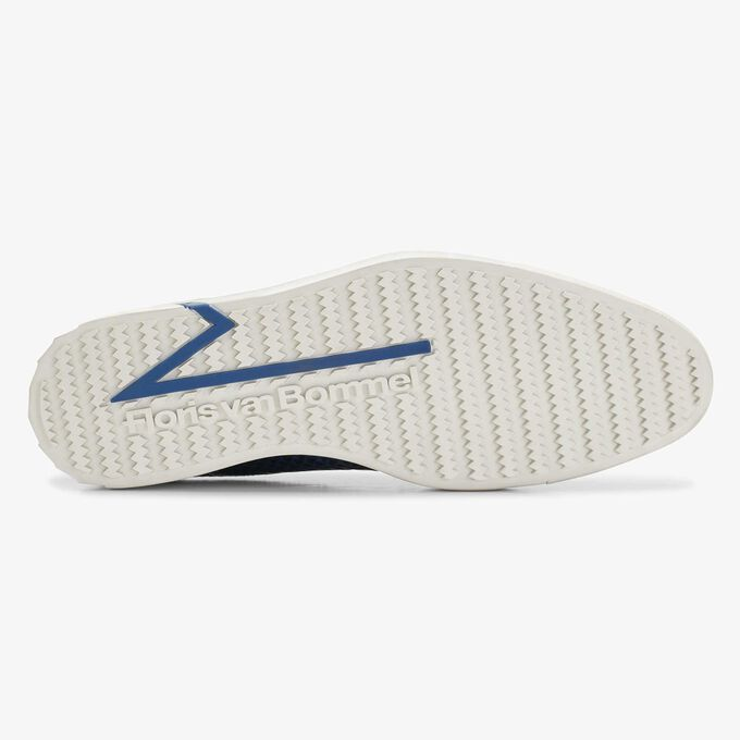 Floris van Bommel halfhoge blauwe snakeprint heren city sneaker