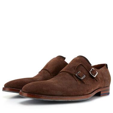 Floris van Bommel suede buckle shoe