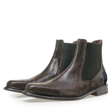 Floris van Bommel men's suede leather Chelsea boot