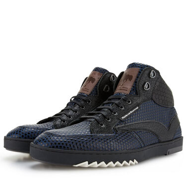 Floris van Bommel semi-high leather men's sneaker