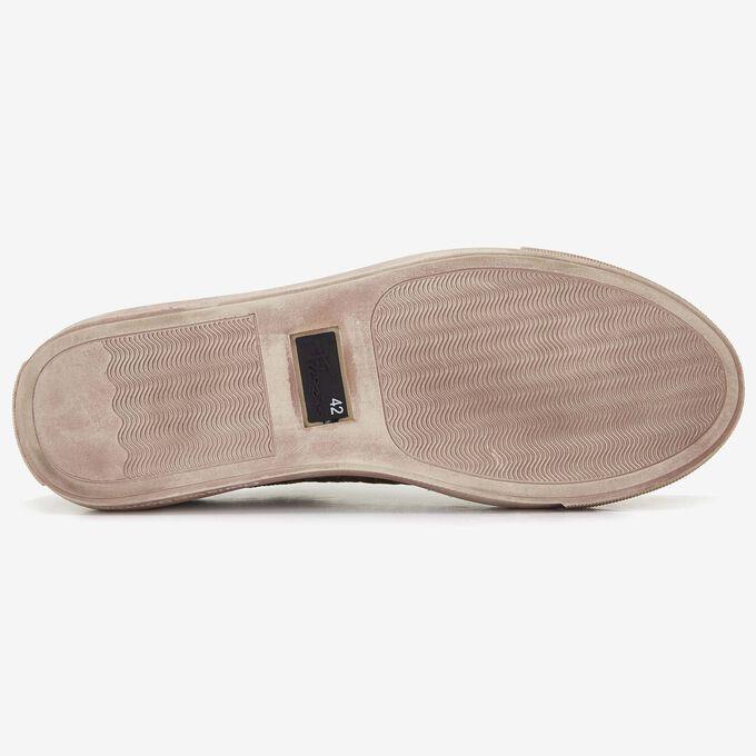 Floris van Bommel zandkleur crocoprint heren sneaker