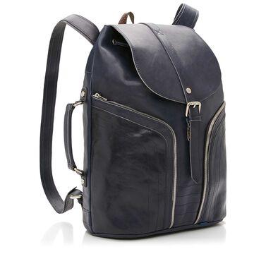 Floris van Bommel blue leather backpack