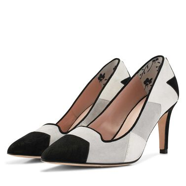 Floris van Bommel Wildleder Patchwork Pumps