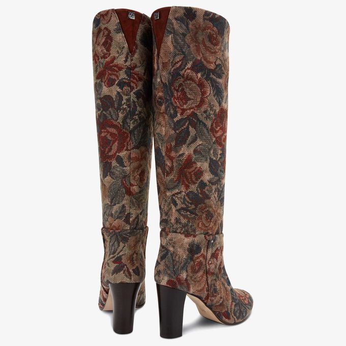 Floris van Bommel boot with jacquard flower print