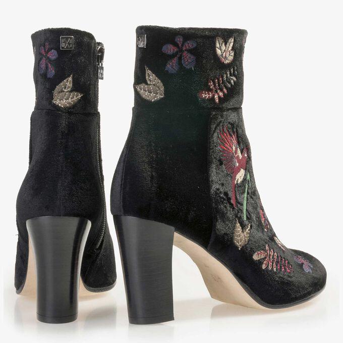 Floris van Bommel schwarze Velours Stiefelette