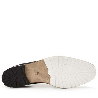 Floris van Bommel crocodile print men's lace-up boot
