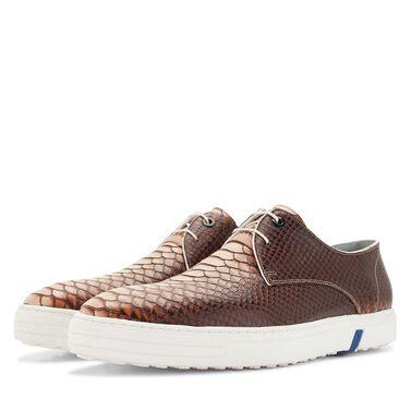 Floris van Bommel snakeprint heren city sneaker