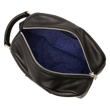 Floris van Bommel black leather toilet bag