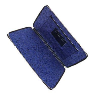 Floris van Bommel blue leather laptop sleeve