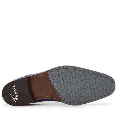 Floris van Bommel crocodile print men's lace-up shoe