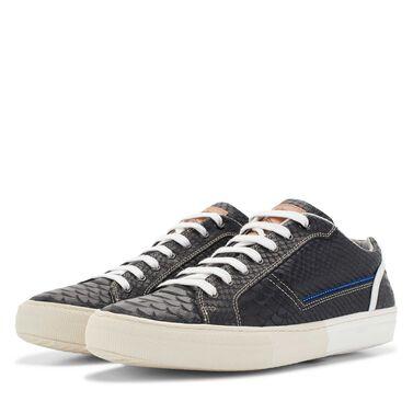 Floris van Bommel men's leather sneaker with snake print