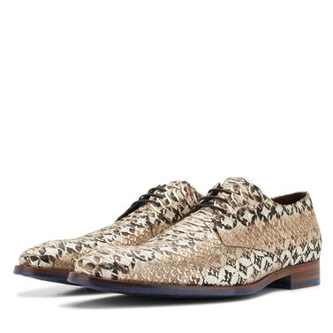 Floris van Bommel Premium coloured men's lace shoe with snake print