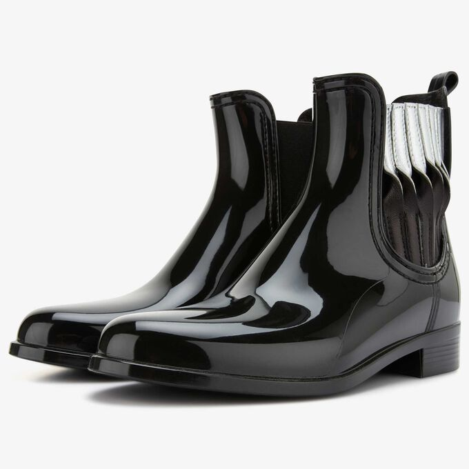 Floris van Bommel rubber dames regenlaars zwart