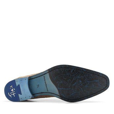 Floris van Bommel suede lace shoe with relief pattern