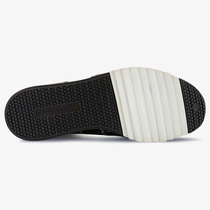 Floris van Bommel zwart-witte snakeprint leren sneaker
