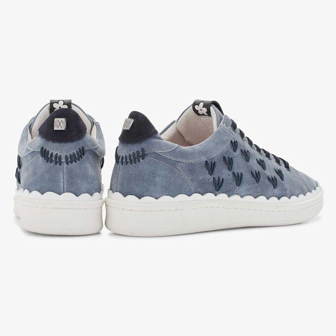 Floris van Bommel blauer Damen Wildleder Sneaker